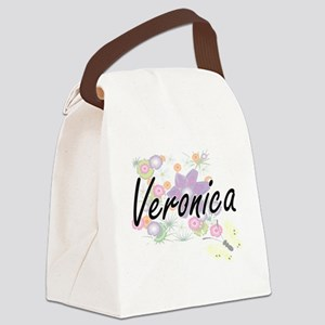 Veronica Artistic Name Design wit Canvas Lunch Bag