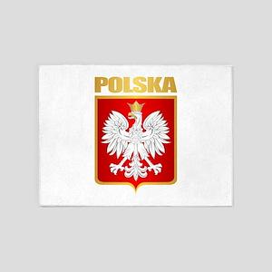 Poland COA 5'x7'Area Rug