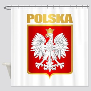 Poland COA Shower Curtain