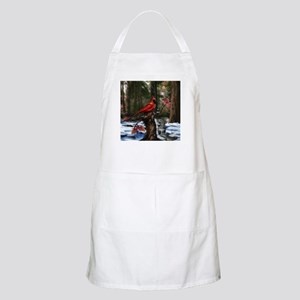 cardinal bird art Apron