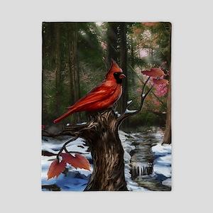 cardinal bird art Twin Duvet