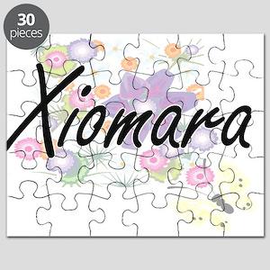Xiomara Artistic Name Design with Flowers Puzzle