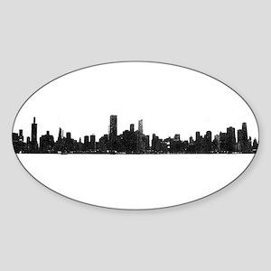 Chicago Skyline 1 Sticker