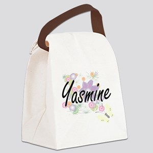 Yasmine Artistic Name Design with Canvas Lunch Bag