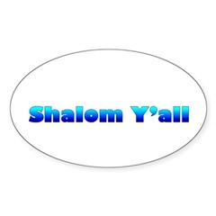 Shalom Y'all Oval Decal