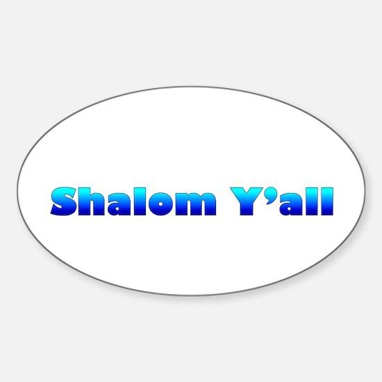 Shalom Y'all Oval Decal