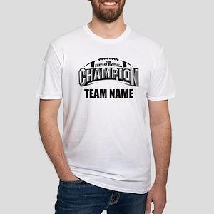 Custom Fantasy Football Champion Fitted T-Shirt