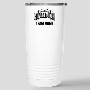 Custom Fantasy Football Stainless Steel Travel Mug