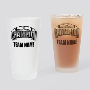 Custom Fantasy Football Champion Drinking Glass