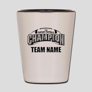 Custom Fantasy Football Champion Shot Glass