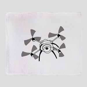 Drone Quadcopter Throw Blanket