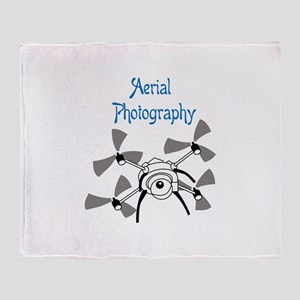 Aerial Photography Throw Blanket