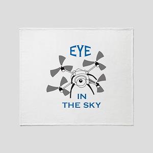 Eye In The Sky Throw Blanket