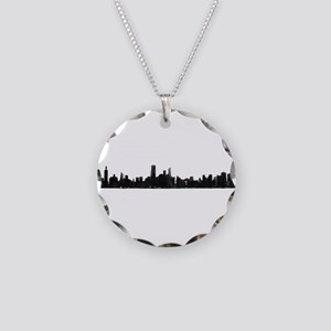 Chicago Skyline 1 Necklace Circle Charm