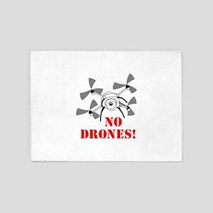No Drones 5'x7'Area Rug