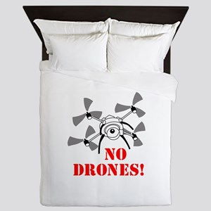 No Drones Queen Duvet
