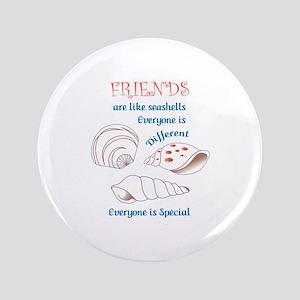 Friends Shell Appliques Button