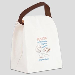 Friends Shell Appliques Canvas Lunch Bag