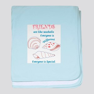 Friends Shell Appliques baby blanket