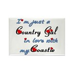 Country Gal Coastie Lov Rectangle Magnet (10 pack)