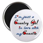 Country Gal Coastie Love Magnet