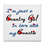 Country Gal Coastie Love Tile Coaster