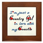 Country Gal Coastie Love Framed Tile