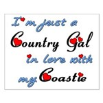 Country Gal Coastie Love Small Poster