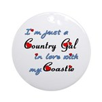 Country Gal Coastie Love Ornament (Round)