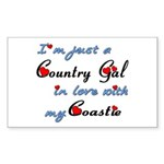 Country Gal Coastie Love Sticker (Rectangle)