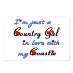 Country Gal Coastie Love Postcards (Package of 8)