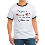 Country Gal Coastie Love Ringer T