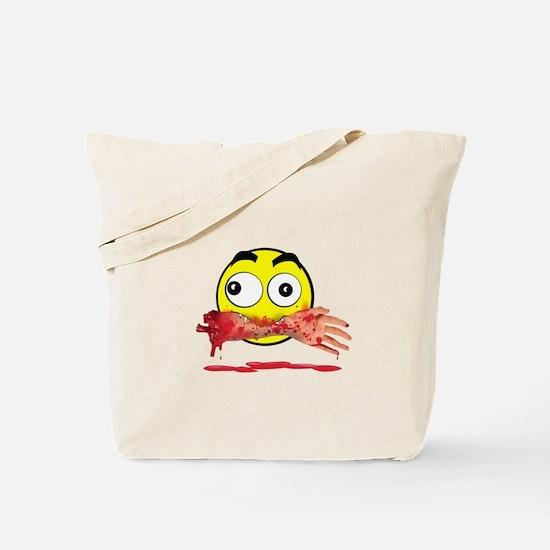 Bloody killer emoji Tote Bag