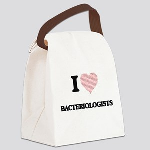 I love Bacteriologists (Heart mad Canvas Lunch Bag