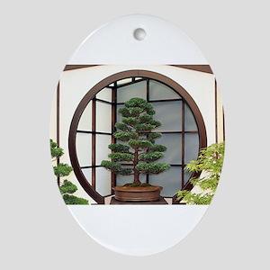 Bonsai tree Oval Ornament