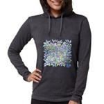Pastel Leaves (ff) Womens Hooded Shirt