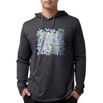 Pastel Leaves (ff) Mens Hooded Shirt