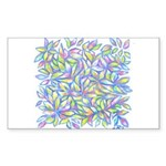 Pastel Leaves (ff) Sticker (Rectangle 50 pk)