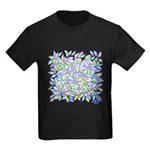 Pastel Leaves (ff) Kids Dark T-Shirt
