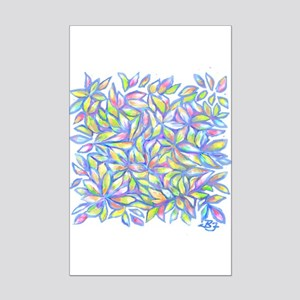Pastel Leaves (ff) Mini Poster Print