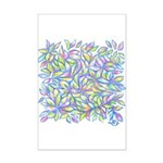 Pastel Leaves (ff) Mini Poster Print