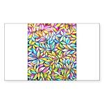 Pastel Leaves 1 Sticker (Rectangle 50 pk)