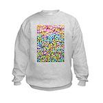 Pastel Leaves 1 Kids Sweatshirt