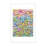 Pastel Leaves 1 Mini Poster Print