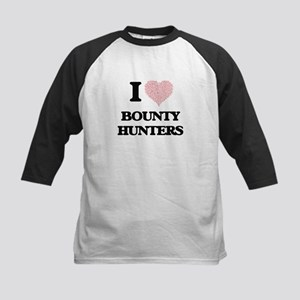I love Bounty Hunters (Heart made Baseball Jersey