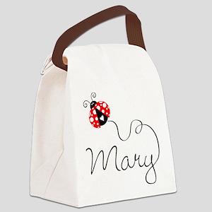 Ladybug Mary Canvas Lunch Bag