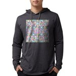 Pastel Bursts 2 Mens Hooded Shirt