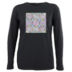 Pastel Bursts 2 Plus Size Long Sleeve Tee