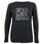 PS-Maze1 Plus Size Long Sleeve Tee