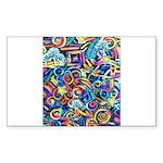 Curlies & D-fly Sticker (Rectangle 50 pk)